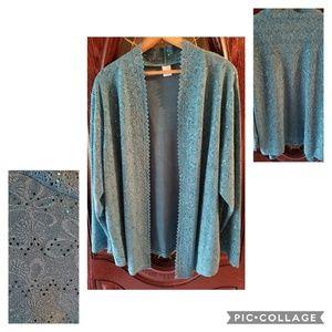 Sweaters - Lightweight dressy cardigan 2x